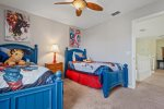 Your little ones will enjoy sleeping in this room with 2 twin beds