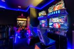 Enjoy the arcade games including Terminator Salvation and Namco Dead Heat Racing