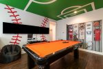 Play a game of pool, foosball or multi-arcade games.