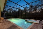 Spend evenings with your family poolside at your own private screened-in pool
