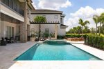 Spend your days lounging at the custom built pool