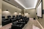 Have a movie night in the private home theater