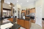 A fully equipped gourmet kitchen that is perfect for preparing delicious meals