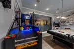 The entertainment options are endless in this villas games room