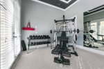 Private gymnasium. Separately located from the main house