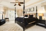 Stylish upstairs master suite with King size bed and  LCD TV