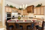 Gourmet kitchen boasting top of the line appliances