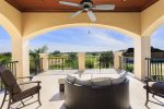 Oversized balcony overlooking million dollar views of the golf course
