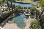 Take a dip in the pool or kick back and relax in the spill over Jacuzzi.