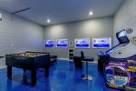 This super game room features fun for the whole family