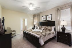 Lay down and relax in this beautifully appointed master suite with king bed