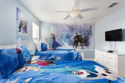 This Frozen room is so magical- the walls even sparkle