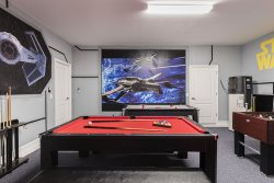 The Star Wars theme games room awaits for fun nights