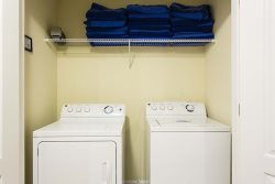 Dont worry about dirty laundry, you will have your own washer and dryer