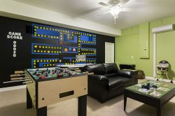 Games room with plenty to offer
