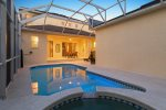 Take advantage of your own private pool with a spillover spa