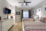The kids will love relaxing after a busy day in this full/full bedroom