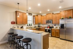 Upgraded with grinet countertops and stainless steel appliances
