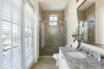 Beautifully decorated bathrooms throughout home.