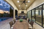 Enjoy family dinners on the back patio.