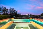 Enjoy evenings by the pool with breathtaking golf course view