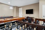 Challenge each other to a game of pool, Foosball, or poker