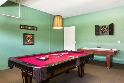 Pool table, darts  air hockey