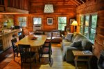 Tall Timbers cabin and firepit