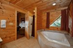 Master Bath has a Jetted Tub and Shower Stall