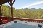 Enjoy the Hot Tub on the Sheltered Porch