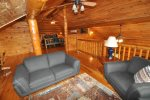 Real Log Cabin with High Ceilings