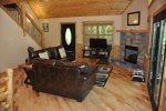 Open Floor Plan and Beautiful Log Interior