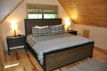 Upstairs Bedroom Has a King Bed and Full Bath