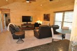 The Loft has Comfortable Seating and TV