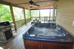 Enjoy the Hot Tub Rain or Shine