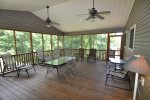 Enjoy the Outdoors from the Comfort of the Screened Porch