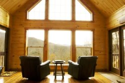 Millstone Lodge - Gorgeous Log Cabin with Spectacular View - Hot Tub, Screened Porch, Fire Pit, and Wi-Fi - 20 Minutes from Rafting