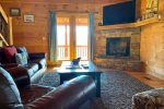 Beauitful Screened Porch with Wood Burning Fireplace