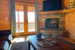 Enjoy the Mountain Air in Shade on the Porch