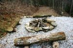 Stone Fire Pit Waiting for S`mores and Stories