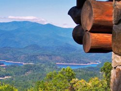 Big Timber Lodge   Unforgettable View Of The Mountains And Fontana Lake  From This Upscale Cabin With Outdoor Fireplace, Hot Tub, And Wi Fi