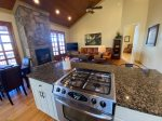 Enjoy the Gas Fireplace While Dining