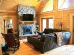 Wood Burning Fireplace and Flat Screen Satellite TV
