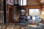 Upstairs Game Room Loft with Foosball Table