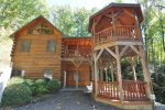 Spacious Two Story Log Cabin