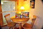 Bistro Table in the Game Room for Board Games