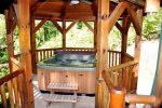 Sheltered Hot Tub in the Gazebo