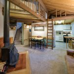 Living and stairs to loft