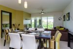 Luxury condos Playa del Carmen - Mareazul Arena - Dining to living area