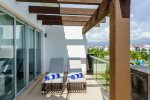 Penthouse Mareazul -Terrace overlooking common areas - Playa del Carmen vacation rentals